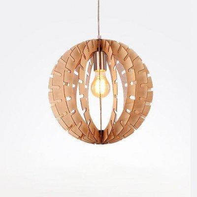 Wooden Ball Pendant Light