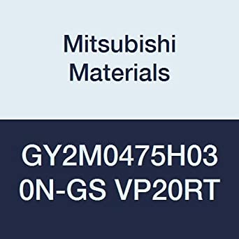 Pack of 10 0.187 Grooving Width Mitsubishi Materials GY2M0475H030N-GS VP20RT GY Series Carbide Grooving Insert for Grooving//Cutting Off and Low Feeds 2 Teeth 0.012 Corner Radius H Seat