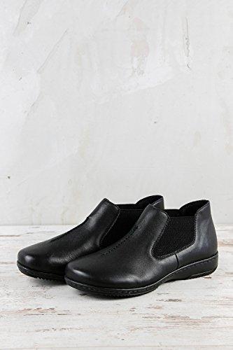 Samples de Negro 023 57990 Cordones Mujer Lisa RK1 Rieker para de Zapatos Negro Piel H6wCxpRq