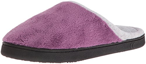 isotoner-womens-microterry-wider-width-clog-slippers-violet-medium-75-8-m-us