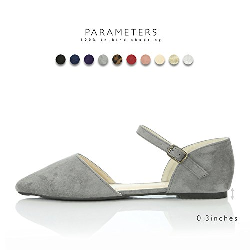 Dailyshoes Chaussures De Mode Pour Femmes Gris Daim