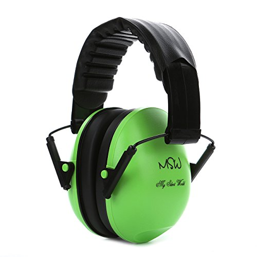 Hearing Protector Ear Muffs Noise Cancelling Gun Shooting Adjustable Soundproofing Ear Defenders for Sleeping Concert Travel, Green (Banz Green Hat)