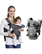 zimo Baby Soft Carrier, 4-in-1 Ergonomic Convertible Carrier with Adjustable Straps and Breathable Mesh
