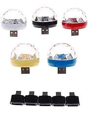 USB Mini Disco Light, Party Lights Ball Sound Activeert Strobe, voor Home Room Party Verjaardag DJ.Bar Karaoke Xmas Wedding Show (Kleur : Black iPhone, Plug Type: 1PCS)