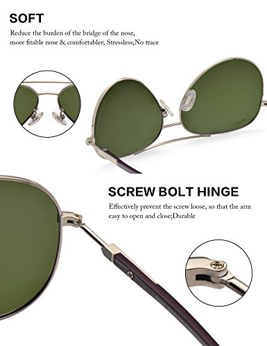 UV Protection Métal Avec Lunettes Lunettes Léger Polarisé Miroir Monture 400 LUENX Étui Poids 8 Soleil 60m de Homme violet qAwxz60