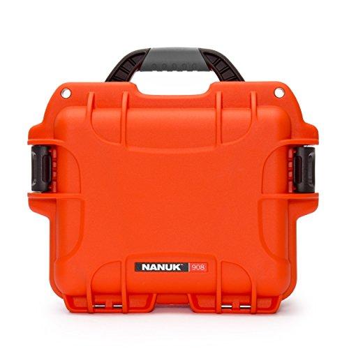 Orange Hard Camera Bag - Nanuk 908 Hard Camera Case, Orange (908-0003)