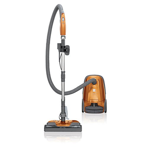 - Kenmore 81214 Multi-Surface Bagged Canister Vacuum Cleaner with Cord Rewind, Orange