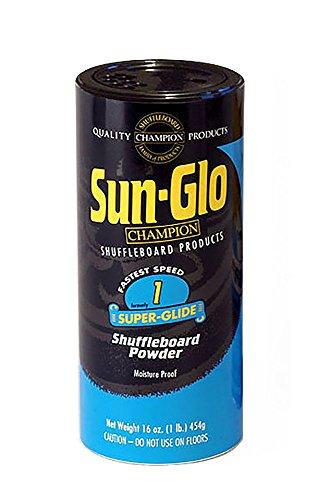 Sun-Glo Super-Glide Shuffleboard Powder Wax (1 Can), 16 oz, 454g