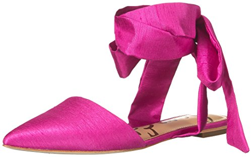 Sam Edelman Women's Brandie Pointed Toe Flat, Hot Pink, 6 M US