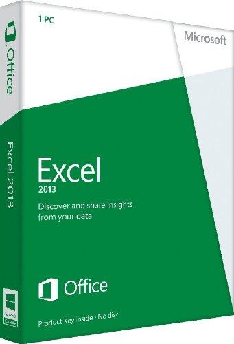 Microsoft Excel 2013 Full Retail Download - 1 User