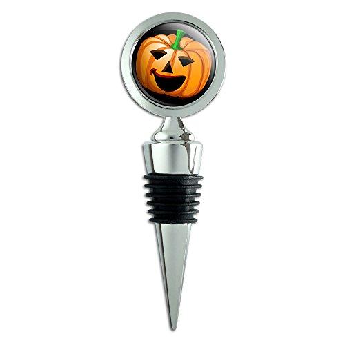 Jack O' Lantern Pumpkin Halloween Wine Bottle Stopper ()