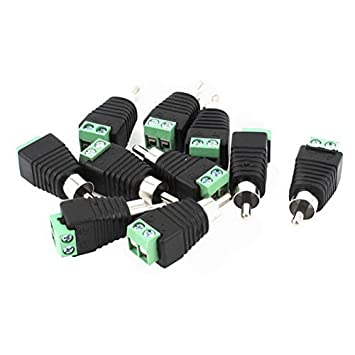 Amazon.com : 10 Pcs Screw Terminal RCA Male Coaxial Cable Connector Adapter by Uptell : Camera & Photo