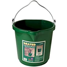 "Farm Innovators Model FB-120 ""All Seasons"" Oversized 5-Gallon Flat-Back Heated Bucket, 120-Watt"
