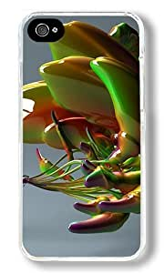 CSKFUAbstract Green Water Droplets Custom iphone 6 4.7 inch iphone 6 4.7 inch Case Back Cover, Snap-on Shell Case Polycarbonate PC Plastic Hard Case Transparent