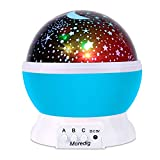 baby room ideas for boys Projection Light Night Lighting Lamp Star Projector lamp with 8 Multicolor 360°Rotation with 6.5ft USB Cable,Best Lamp for Man Woman Children Kids Bedroom Blue