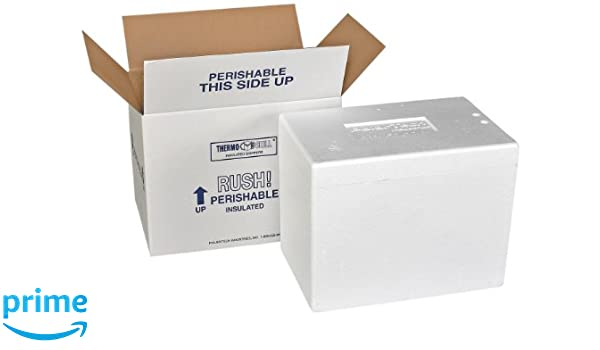 Polar Tech 271C Thermo Chill Insulated Carton with Foam Shipper Extra Large 26 Length x 19-3//8 Width x 10-1//2 Depth