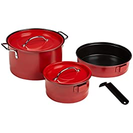 Coleman 5-Piece Family Cook Set,Red, 5 Piece
