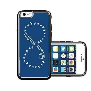 RCGrafix Brand hakuna-matata Grey plain white iPhone 6 Case - Fits NEW Apple iPhone 6