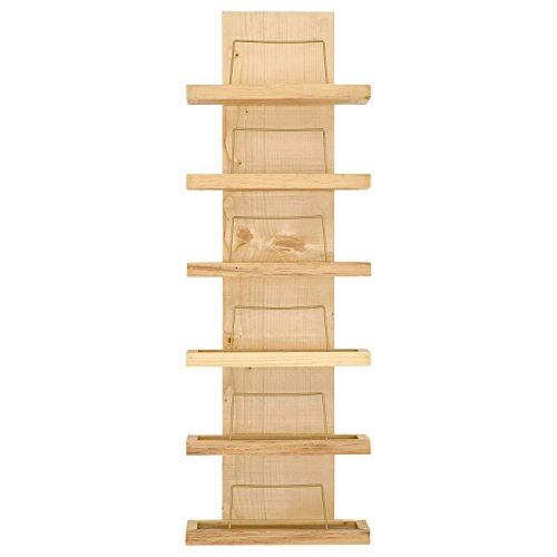 Rivet Rustic Decorative 6-Bottle Wood Wine Rack, 37''H, Natural by Rivet