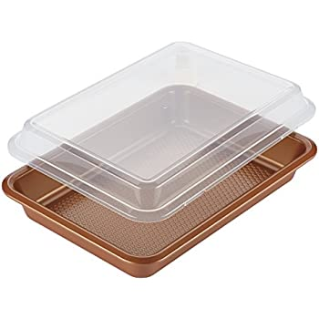 Amazon Com Airbake Nonstick Cake Pan With Cover 13 X 9