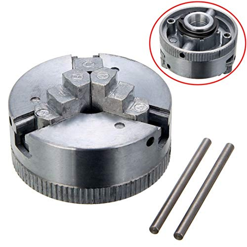 (1pc Self-Centering Lathe Parts 3 Jaw Metal Lathe Chuck M12x1 45mm with 2pcs Lock Rods for Power)