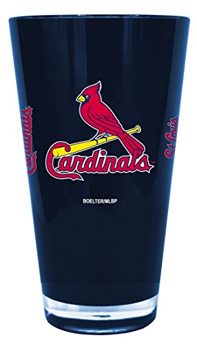 St. Louis Cardinals 20 oz Insulated Plastic Pint Glass Cardinals Pint Glass