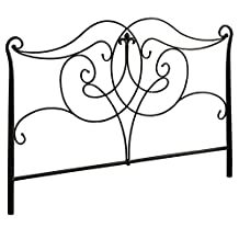 Monarch Specialties Geometric Combo Head/Footboard, Queen/Full, Satin Black