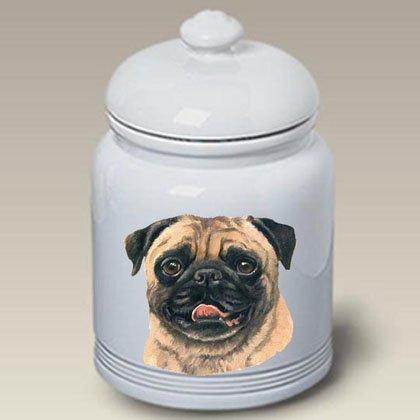- Pug (Fawn): Ceramic Treat Jar 10