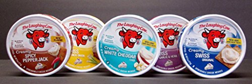 (The Laughing Cow 5 Count Variety Pack - Original Swiss, Swiss Garlic & Herb, Spicy Pepper Jack, Swiss French Onion, & White Cheddar )