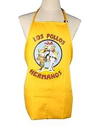 LOS Pollos Hermanos Apron Cooking Costume Moth Heisenberg Breaking Bad