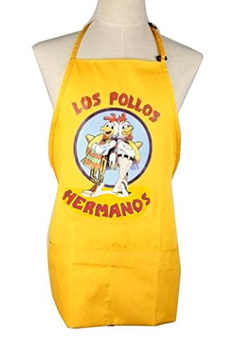 Heisenberg Costume Breaking Bad (LOS Pollos Hermanos Apron Cooking Costume Moth Heisenberg Breaking Bad)