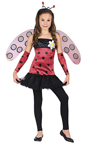[Fun World Girls 'Lovely Ladybug' Child Costume, Red/Black/Pink, M] (Girls Bug Costumes)