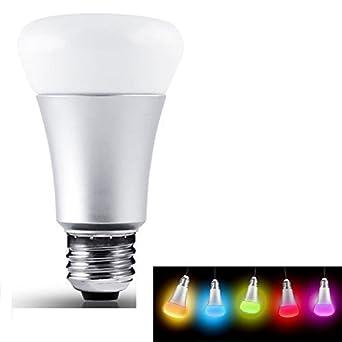 Elinkum E27 Led Lampe Changement Lumière Fond Rgb Illumination Couleur Ampoule Haute Avec 9leds Lumiere 1100lm 10w Rvb De QxrtsdCh