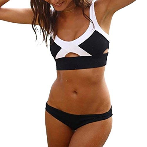 Isabella Floral Print (NewKelly Women Bikini Set Swimwear Push-Up Padded Patchwork Bra Swimsuit Beachwear (S))