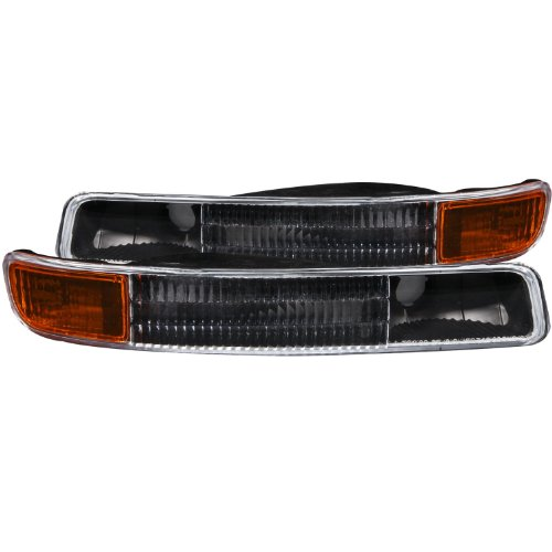 Black Bumper Signal Lights (Anzo USA 511005 GMC Black w/Amber Reflector Bumper Light Assembly - (Sold in)