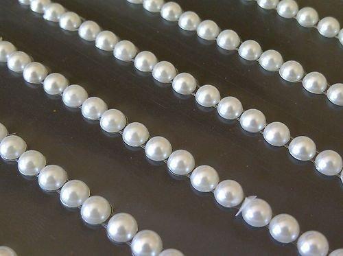 Little Pearl Jewels - CraftbuddyUS 252 pcs 5mm Self Adhesive Ivory Pearl Strips Stick on Gems Craft Jewel