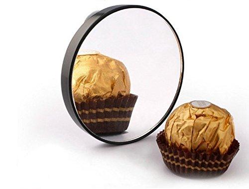 YYIN Lupa Especial para baño 15 Veces más Grande con Dos ventosas Espejo de Maquillaje Espejo de Pared de 8.8 cm
