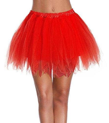 Red Tutu For Women - V28 Women's Teen's 1950s Vintage Tutu