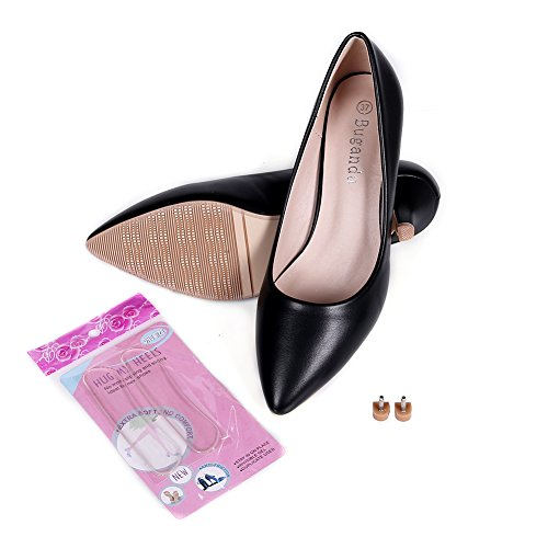 buganda Womens Sexy Elegant Low Kitten Heel Shoes PU Leather Pointed Toe Classic Pumps 5cm Black psgHmnF