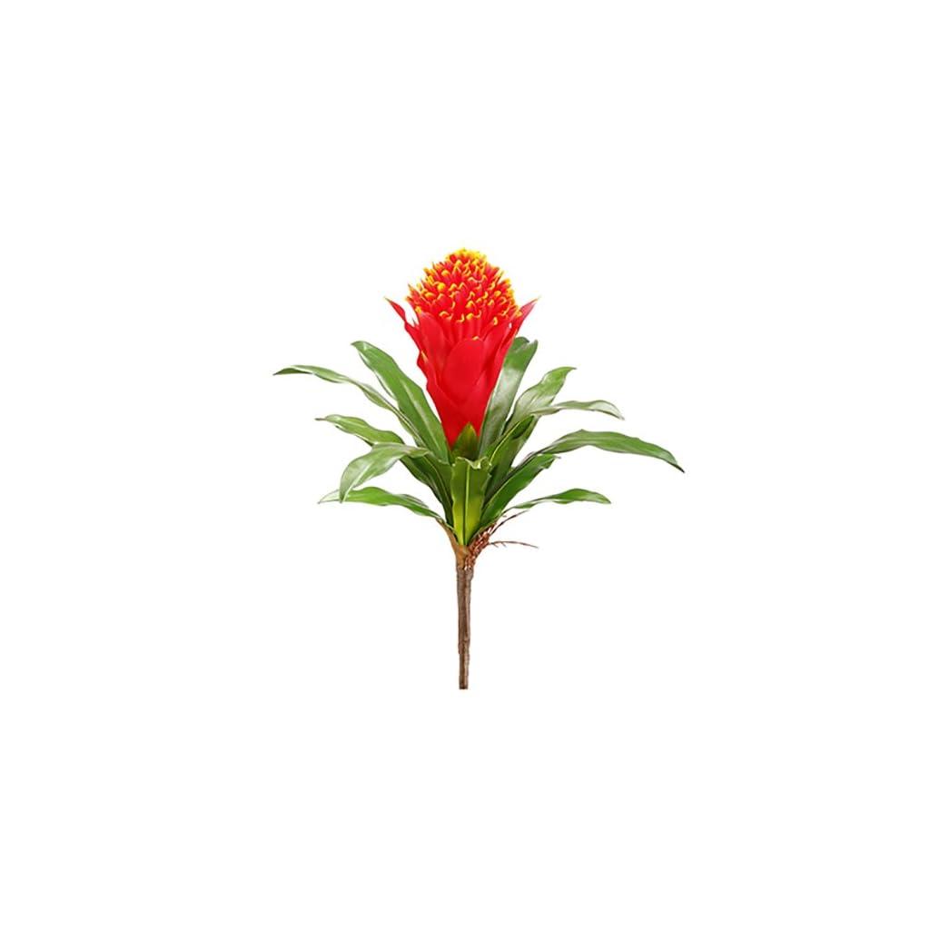 14″ Silk Bromeliad Plant Flower Bush -Flame (Pack of 24)