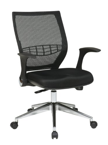 Office Star Breathable ProGrid Back, Padded Black Mesh Seat with Built-in Lumbar Support Managers Chair Review