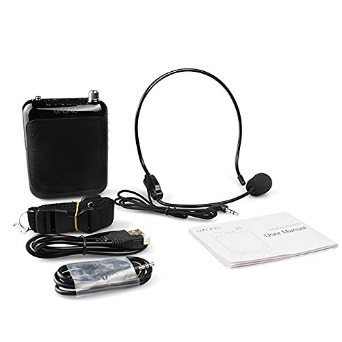 Voice Amplifier, Maono AU-C01 Portable Professional Teacher Microphone with FM, Repeat and Music Player Function for Coaches, Tour Guides, Kindergarten(Black) by MAONO (Image #8)