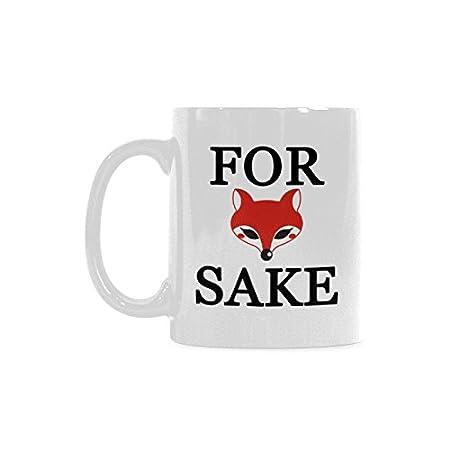 amazing humorous funny saying quotesfor fox sake magical coffee mug best gift