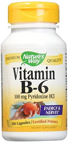 Nature's Way Vitamin B6, 100 Capsules (Pack of 2)