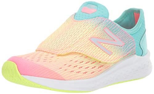 New Balance Girls' Fast V1 Running Shoe Guava/Bleached Lime GLO/Light Tidepool, 3 W US Little Kid