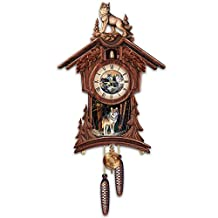 Sentinels Of The Forest Wildlife Wooden Cuckoo Clock by The Bradford Exchange