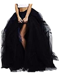 Women's Black Tulle Special Occasion Skirt