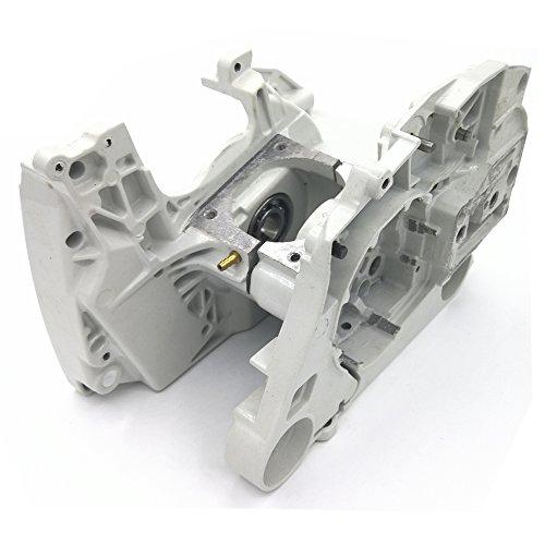 Shioshen Aluminum Crankcase Crank Case Engine Housing W Chain Tensioner Adjuster For STIHL MS440 044 Chainsaw Parts 1128 020 2136, 1128 020 2122 (Engine Housing)