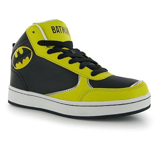 DC Comics Batman Hi Top Turnschuhe Juniors schwarz Sneakers Schuhe Schuhe, schwarz, (UK6.5) (EU40)