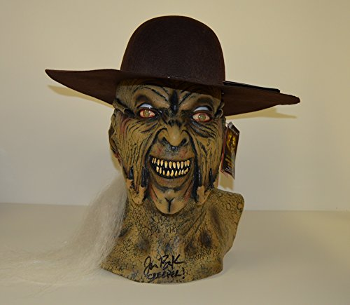 JONATHAN BRECK signed Jeepers Creepers MASK auto with THE CREEPER HAT INCLUDED